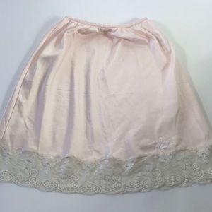 Vtg Christian Dior Pale Pink Lingerie Slip Skirt S